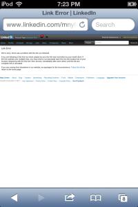 Linkedin error